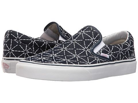 Zoom Vans Classic Slip-On quilted denim dress blues