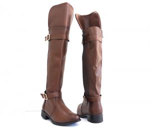 Bota Feminina Montaria Over Knee Chocolate