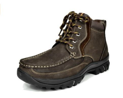 Zoom Bota Bruno Marc Men´s Genuine Leather Rubber Outsole Classic American 6´´ Work Boots