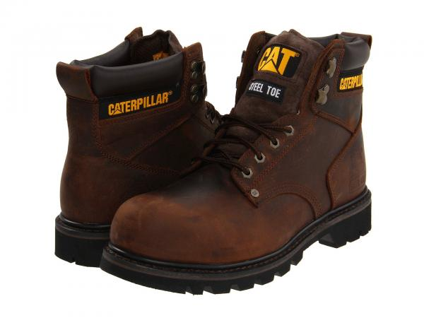 BOTA CATERPILLAR 2ND SHIFT STEEL TOE DARK BROWN